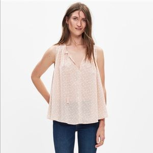 Madewell silk bellshift top in nightlily